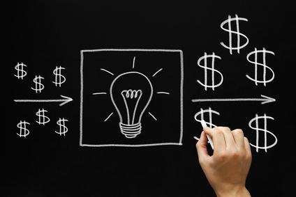 Profitable Investment Ideas Concept